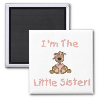 Teddy Bear Little Sister Tshirts and Gifts Magnet