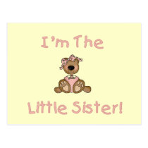 Teddy Bear Little Sister Tshirts and Gifts Postcard
