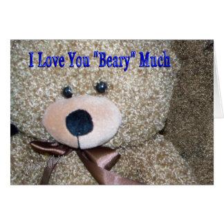 Teddy Bear Love card
