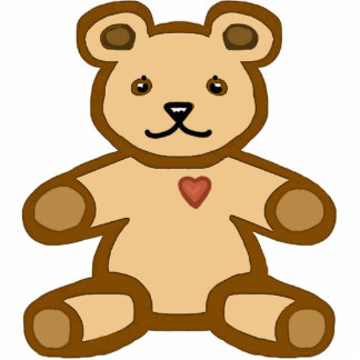 Teddy bear love cutout