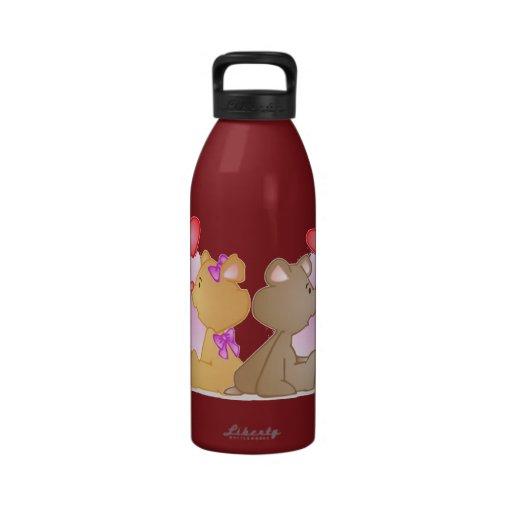 Teddy Bear Love Drinking Bottles