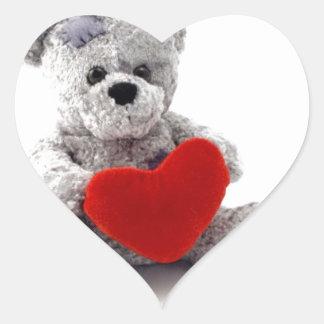 TEDDY BEAR LOVE HEART HEART STICKER