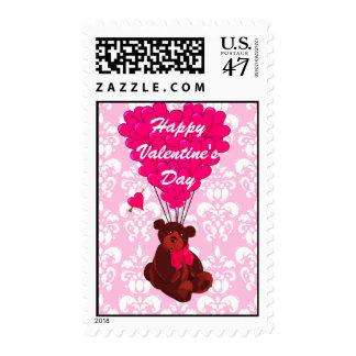 Teddy bear love heart Valentine's Postage Stamp