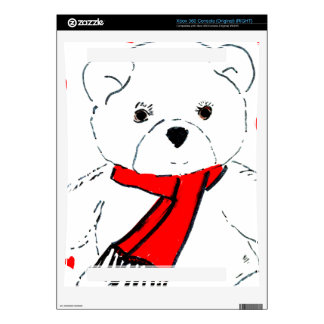 Teddy Bear Love - Red and White Skin For Xbox 360 Console