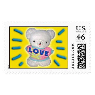 Teddy Bear Love stamp