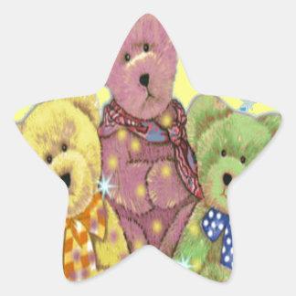 Teddy Bear Love Star Sticker