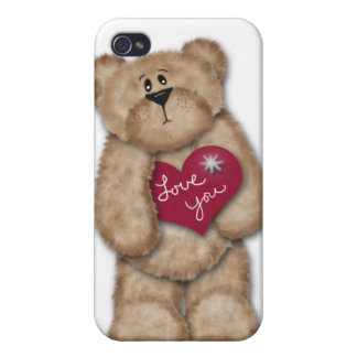 Teddy Bear Love You iPhone 4 Case