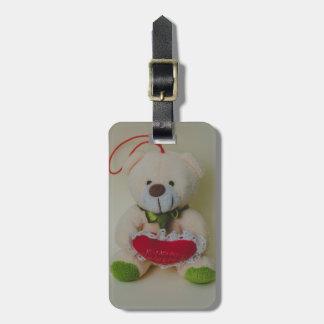Teddy bear tag for bags