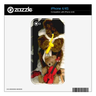 Teddy Bear Make Music Decals For The iPhone 4S