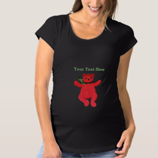 Teddy Bear Maternity by Leslie Harlow Maternity T-Shirt