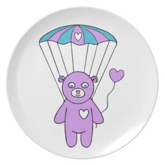 Teddy bear melamine plate