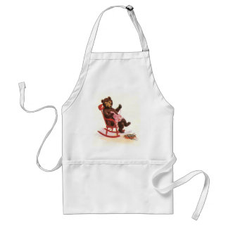 Teddy Bear Mends Clothes Adult Apron