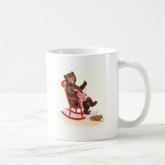 Teddy Bear Mends Clothes Classic White Coffee Mug