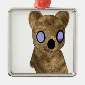 Teddy bear metal ornament