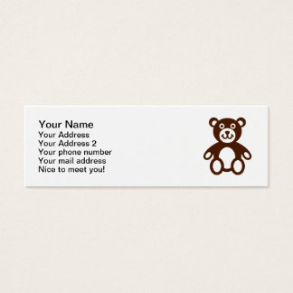 Teddy bear mini business card