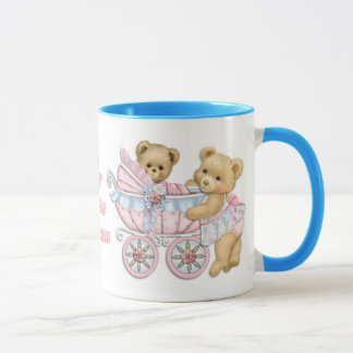 Teddy Bear Mom and Carriage - Little Miracles Mug