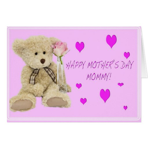 Teddy Bear Mommy Happy Mother's Day Greeting Card
