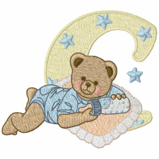 Teddy Bear Monogram Initial C