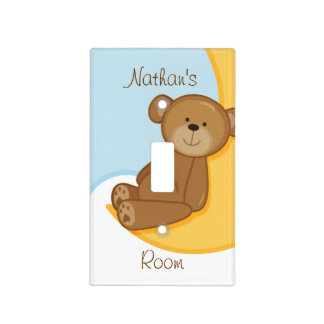 Teddy Bear Moon Switch Plate Cover
