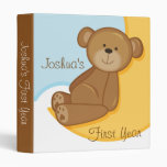 Teddy Bear Moon Vinyl Binder