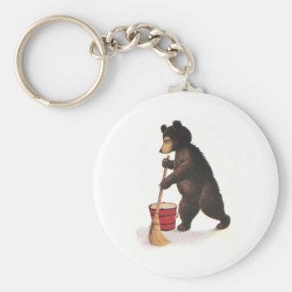 Teddy Bear Mops Floor Key Chains