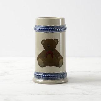 Teddy bear 18 oz beer stein