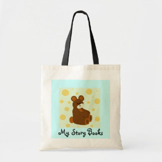 Teddy Bear My Story Books Tote Bag