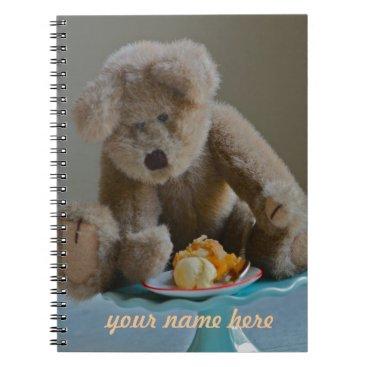 Beach Themed Teddy Bear notebook