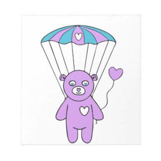 Teddy bear notepad