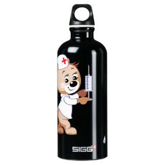 Teddy Bear Nurse Aluminum Water Bottle