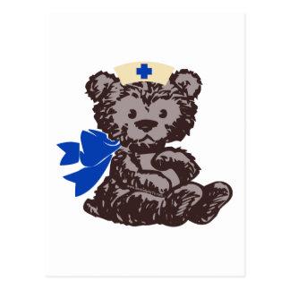 Teddy Bear Nurse (Blue) Postcard