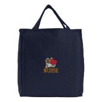 Teddy Bear Nurse Embroidered Bag