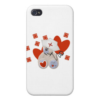 Teddy Bear Nurse Love and Gifts iPhone 4/4S Covers