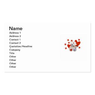 Teddy Bear Nurse Love Tshirts and Gifts Business Card