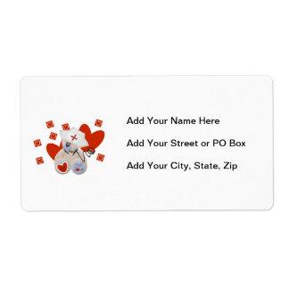 Teddy Bear Nurse Love Tshirts and Gifts Label