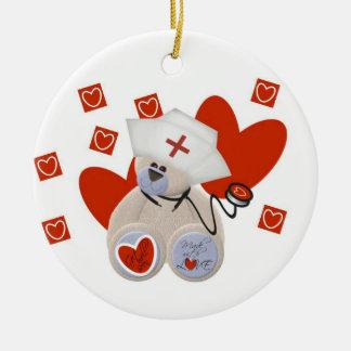 Teddy Bear Nurse Love Tshirts and Gifts Ornament