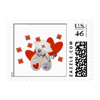 Teddy Bear Nurse Love Tshirts and Gifts Stamp