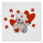 Teddy Bear Nurse Love Tshirts and Gifts Poster