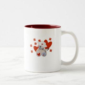 Teddy Bear Nurse Love Tshirts and Gifts Two-Tone Coffee Mug