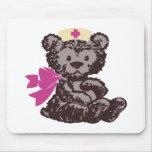 Teddy Bear Nurse (Pink) Mouse Pad