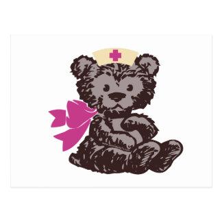 Teddy Bear Nurse (Pink) Postcard