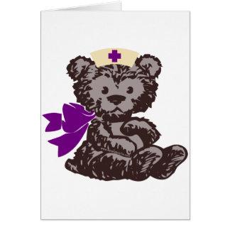 Teddy Bear Nurse (Purple) Card