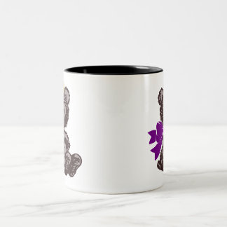 Teddy Bear Nurse (Purple) Two-Tone Coffee Mug