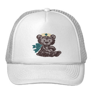Teddy Bear Nurse (Teal) Trucker Hat