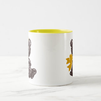 Teddy Bear Nurse (Yellow) Two-Tone Coffee Mug