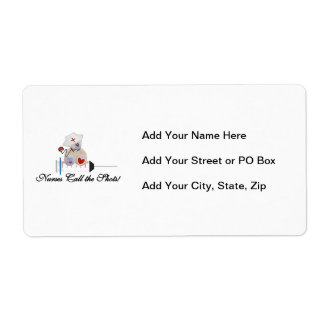 Teddy Bear Nurses Call the Shots T-shirts and Gift Label