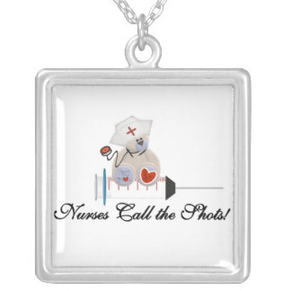 Teddy Bear Nurses Call the Shots T-shirts and Gift Necklaces