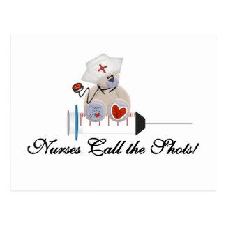 Teddy Bear Nurses Call the Shots T-shirts and Gift Postcard