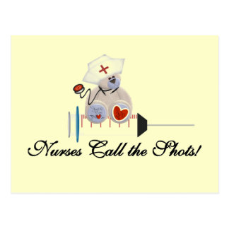 Teddy Bear Nurses Call the Shots T-shirts and Gift Postcards