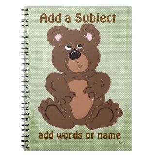 Teddy Bear O1 Spiral Notebooks